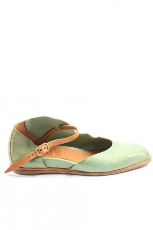 A.S.98 Scarpa Mary Jane verde-marrone stile casual