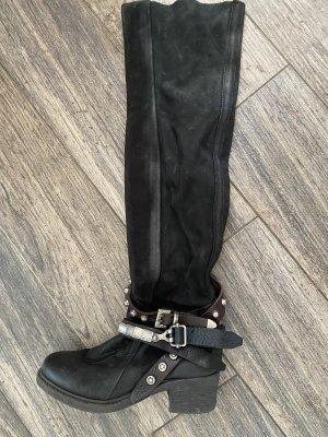 A.S.98 Overknees black leather