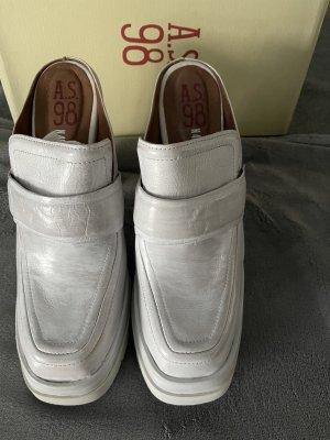 A.S.98 Sandalo con tacco grigio chiaro-bianco