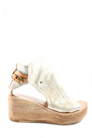 A.S.98 Platform Sandals silver-colored-brown casual look