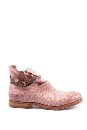 A.S.98 Reißverschluss-Stiefeletten pink-braun Casual-Look