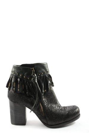A.S.98 Reißverschluss-Stiefeletten schwarz Casual-Look