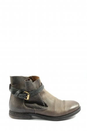 A.S.98 Reißverschluss-Stiefeletten graubraun-schwarz Casual-Look