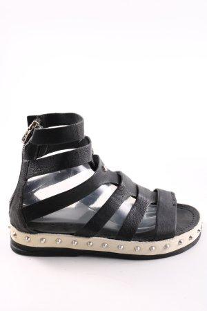 A.S.98 Sandalo romano nero-crema stile casual