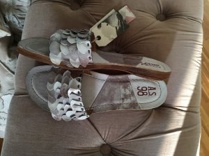 A.S.98 Strapped Sandals silver-colored leather
