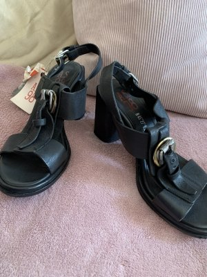 A.S.98 Strapped High-Heeled Sandals black