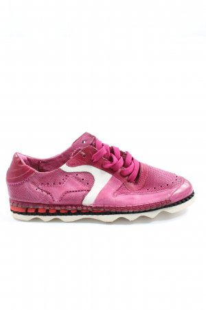 A.S.98 Sneakers met veters roze casual uitstraling