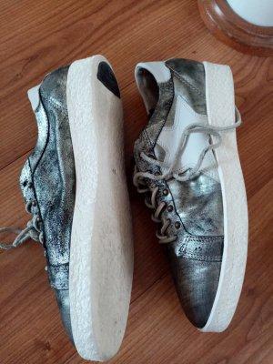 A.S.98 Sneaker stringata argento Pelle