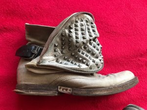 A.S.98 Boots silver-colored leather