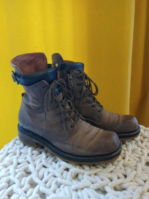A.S.98 Lace-up Booties grey brown