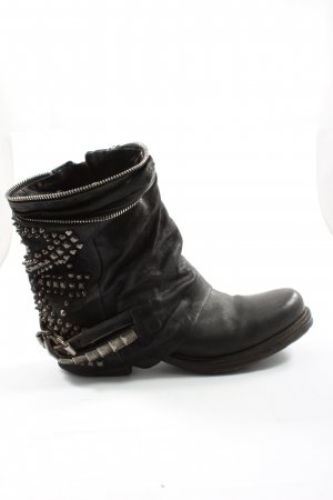 A.S.98 Western Booties black street-fashion look