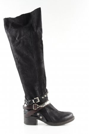 A.S.98 Western Boots black casual look