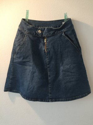 2nd One Denim Skirt azure-steel blue cotton