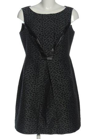 a wear Robe courte noir-vert imprimé allover style festif