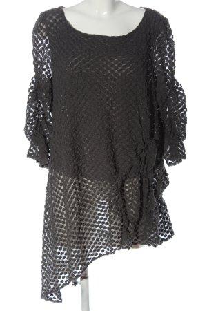 A-Z Blusa de manga larga negro estampado repetido sobre toda la superficie
