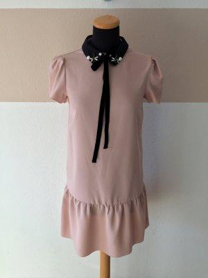 A21031103 Rosa schwarz Schleife Steine Kleid von Mango, Gr. XS (NEU)