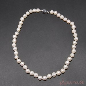 Collana di perle argento-crema