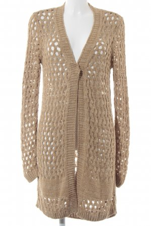 Aaiko Cardigan camel loosely knitted pattern classic style