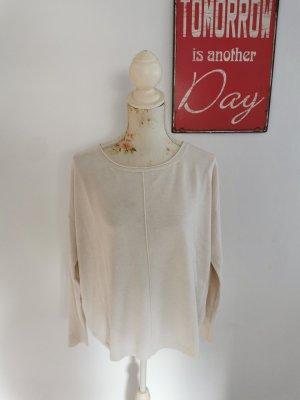 Aaiko V-Neck Sweater cream cotton