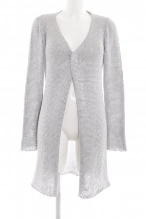 Aaiko Strick Cardigan hellgrau Zopfmuster Business-Look