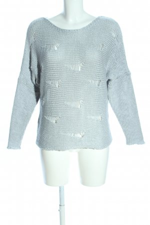 Aaiko Knitted Sweater light grey casual look