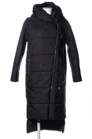 Aakasha Kurtka zimowa czarny Pikowany wzór W stylu casual