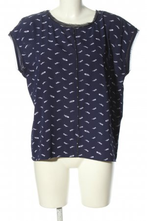 Aako Top koszulowy niebieski Nadruk z motywem W stylu casual