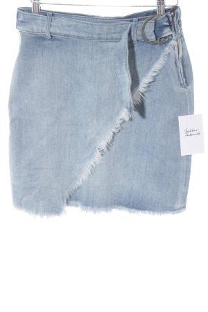 Aako Jupe en jeans bleu pâle style mode des rues