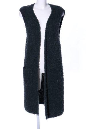 Aako Gilet long tricoté noir style décontracté