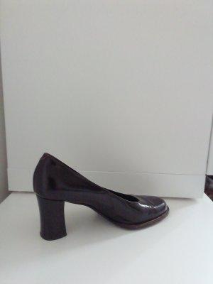 Giorgio Moretto Zapatos de tacón con barra en T marrón oscuro-marrón-negro