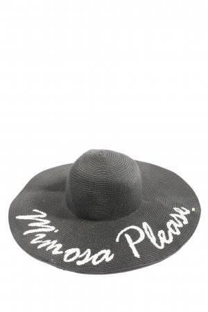 Abaco Beach Company Straw Hat black-white printed lettering casual look