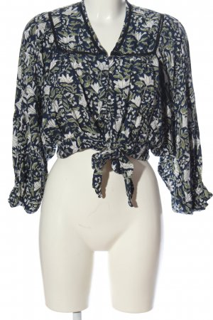 ABASK Knitted Top flower pattern casual look