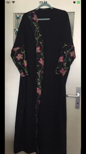 Coat Dress black-dark red polyester
