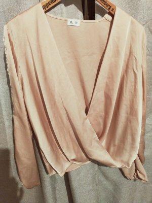 abbott lyon Blusa de manga larga crema-nude