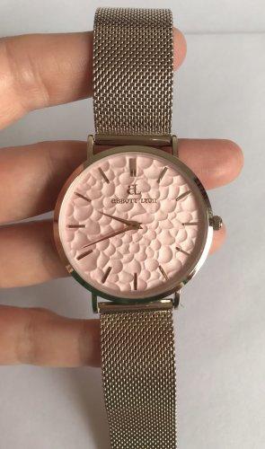Abbott Lyon Damenuhr Blush La Ponche Pink rosa 40 mm Mesh Edel-stahl elegant Neu