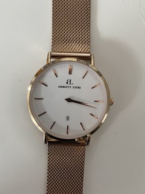 abbott lyon Watch With Metal Strap rose-gold-coloured
