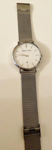 abbott lyon Reloj con pulsera metálica color plata tejido mezclado