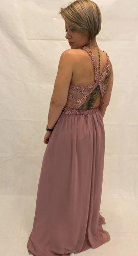 Vestido de baile lila grisáceo tejido mezclado