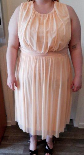 asos curve Cocktail Dress apricot mixture fibre