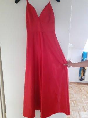 -8- Venice Evening Dress dark red satin