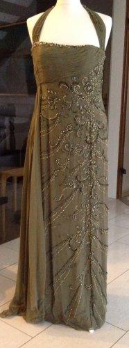 Abend Kleid Mintgrün, Größe S, mit Schal , Aus Seide, PRONOVIAS