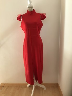 100% Fashion Cocktail Dress red polyester