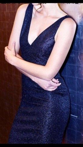 Abend Kleid schwarz Glitzer