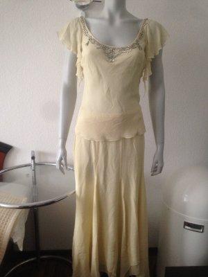 Laurèl Evening Dress pale yellow silk