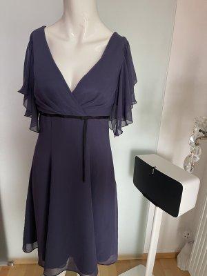 Swing Chiffon Dress dark blue-black