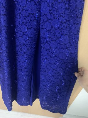 Morgan Cekinowa sukienka niebieski