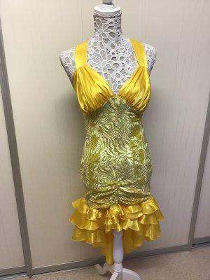 Vestido bustier amarillo