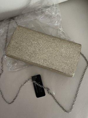 Abend Tasche Clutch Gold Glitzer 20x10x4,5 cm