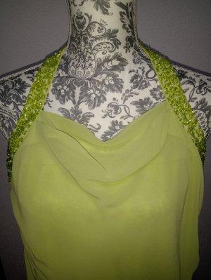 Vestido de cuello Halter verde pálido