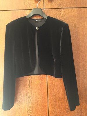 Basic Blazer court noir lycra